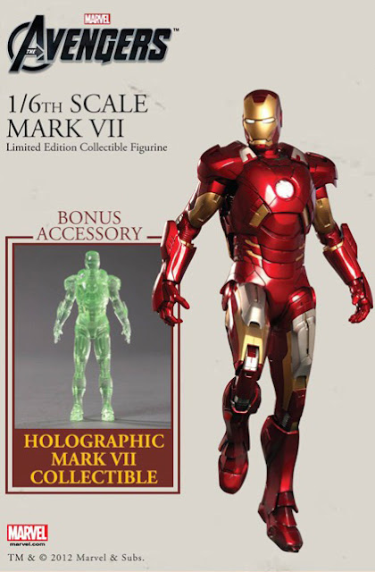 Ironman Mark 7 with Holographic Figure