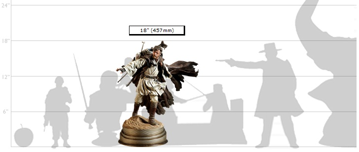 Ben Kenobi Statue Scale