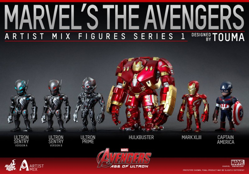 The Avengers: Age of Ultron 'Artist Mix Series' Collection by Hot Toys
